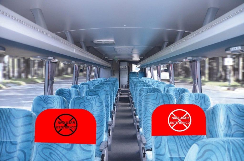 Idéia genial para distanciar passageiros nesta fase da Pandemia dentro de ônibus em geral.
